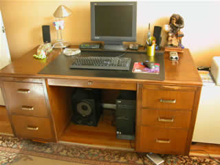 Desk formerly used by Ludwig woodshop foreman