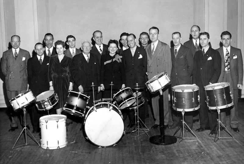 Gretsch Drums - Carnegie Hall - 1945 group photo