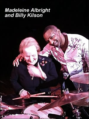 Madeleine Albright and Billy Kilson during Chris Botti concert