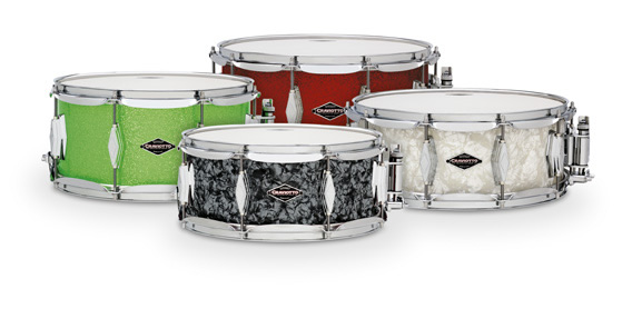 Craviotto Adds Classic and Glitter Wrapped Finishes to Unlimited Snare Drums.
