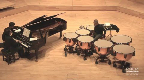 Bach's Toccata & Fugue in D minor for piano and timpani