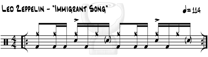 Drummer Cafe - Led Zeppelin: 'Immigrant Song' Drum Groove