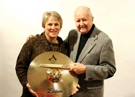 Craigie Zildjian and Vic Firth